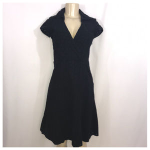Nine West Black A-Line Midi Dress Size 4
